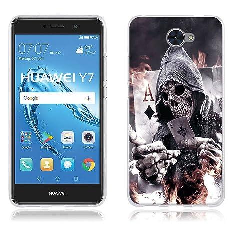 FUBAODA Funda Huawei Y7 Carcasa Protectora de Silicona Póker ...