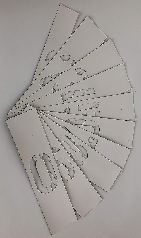 100mm Magnet-Zahlenschablonen nach DIN 1451 mit verstärkten Stegen stencilBOY