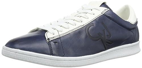 Calvin Klein Jeans HANS SHINY BUFFALO/SMOOTH - Zapatillas para hombre, color azul, talla 46: Amazon.es: Zapatos y complementos