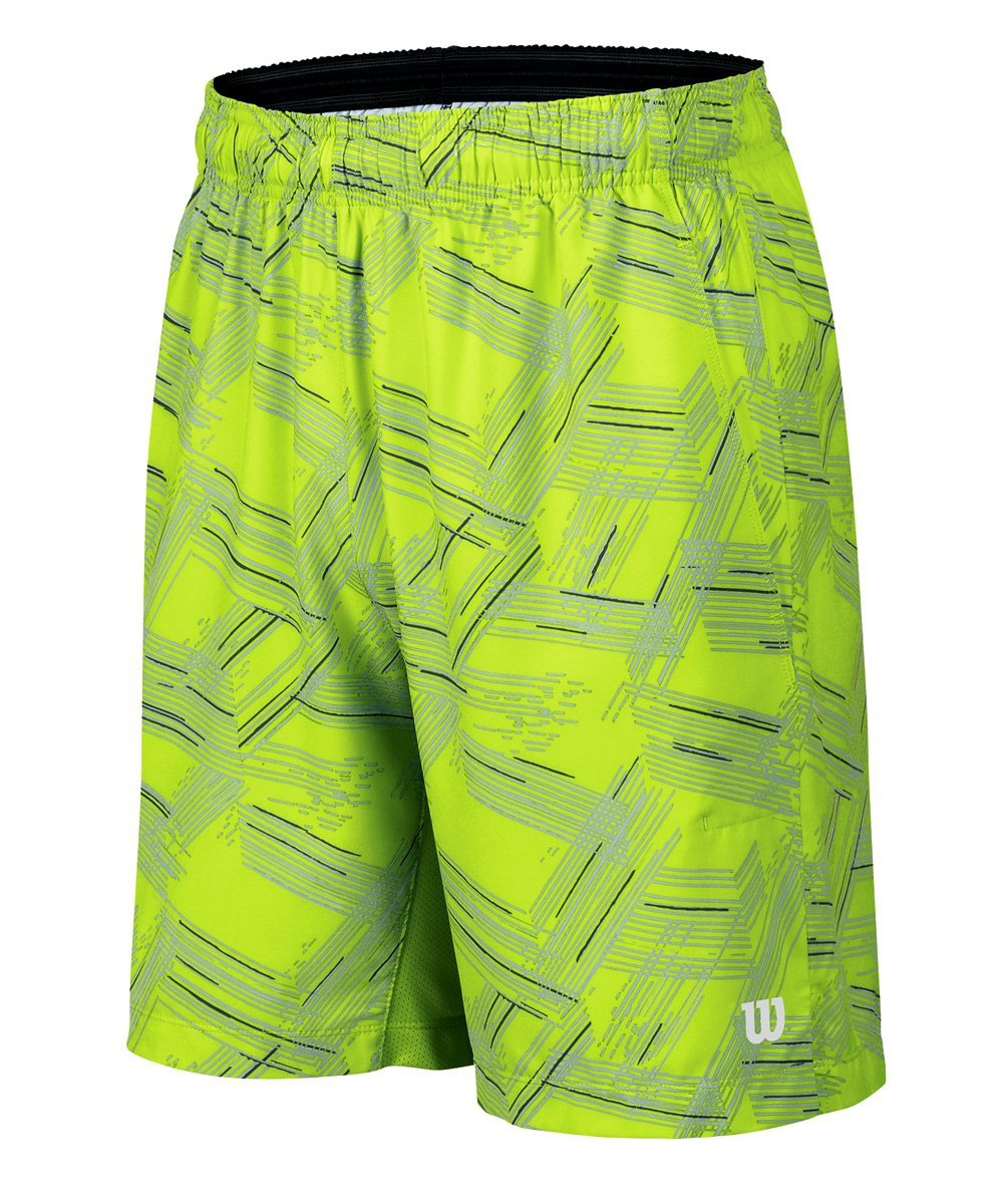 Wilson Boys SU Perspective Print 8-Inch Shorts Green//Silver X-Small