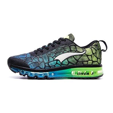 1d37c503543 ONEMIX Trail Chaussures de Course Homme - Coussin d air Léger pour la  Marche Gym