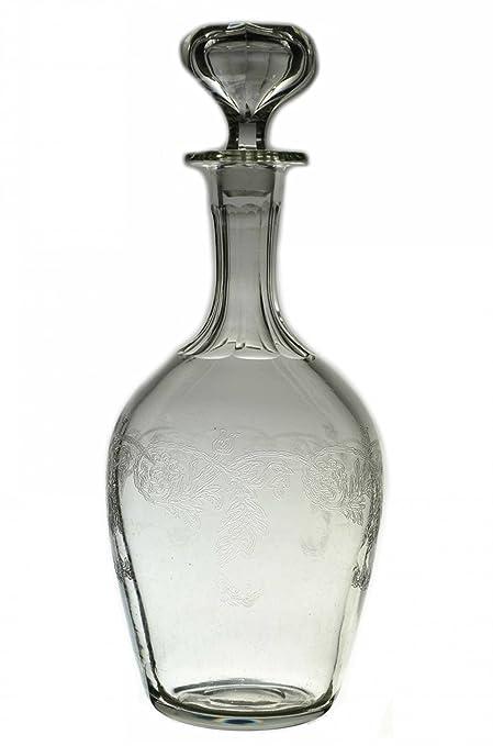 Garrafa de cristal soplado decantador de Whisky de cristal claro de licor tapón para botella de
