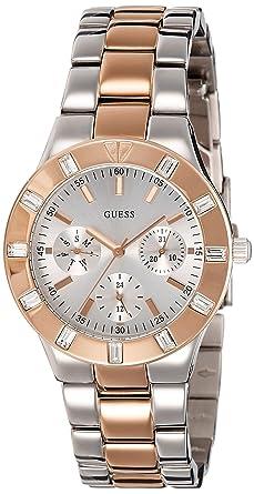 Guess Reloj analogico para Mujer de Cuarzo con Correa en Acero Inoxidable W14551L1: Guess: Amazon.es: Relojes