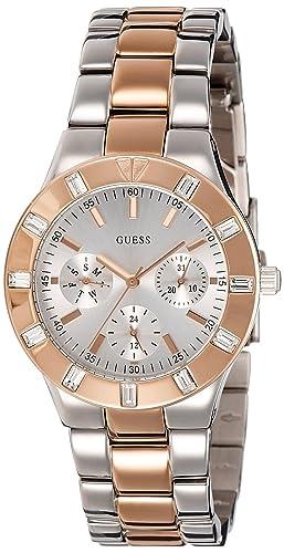 Amazon.com: Guess W14551L1 Ladies GLISTEN Two Tone Watch ...