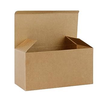 RUSPEPA 23 X 11.5 X 11.5Cm Cajas De Regalo De Cartón Reciclado Con Tapas, Caja Decorativa Para Regalos, Fiesta, Boda (Kraft): Amazon.es: Hogar