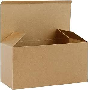 RUSPEPA Cajas De Regalo De Cartón Reciclado: Caja Decorativa con Tapas para Regalos, Fiesta, Boda - 23X11.5X11.5 Cm - Paquete De 30 - Kraft: Amazon.es: Hogar
