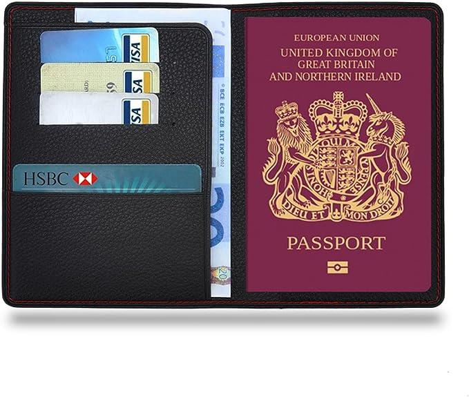 Mondpalast MPTECK @ Fundas Pasaporte Funda para Pasaporte de Cuero PVC Cartera de Piel para Pasaporte Caja Sostenedor Cubierta Organizador Protector con 3 Huecos para Tarjeta de crédito y Billete: Amazon.es: Equipaje