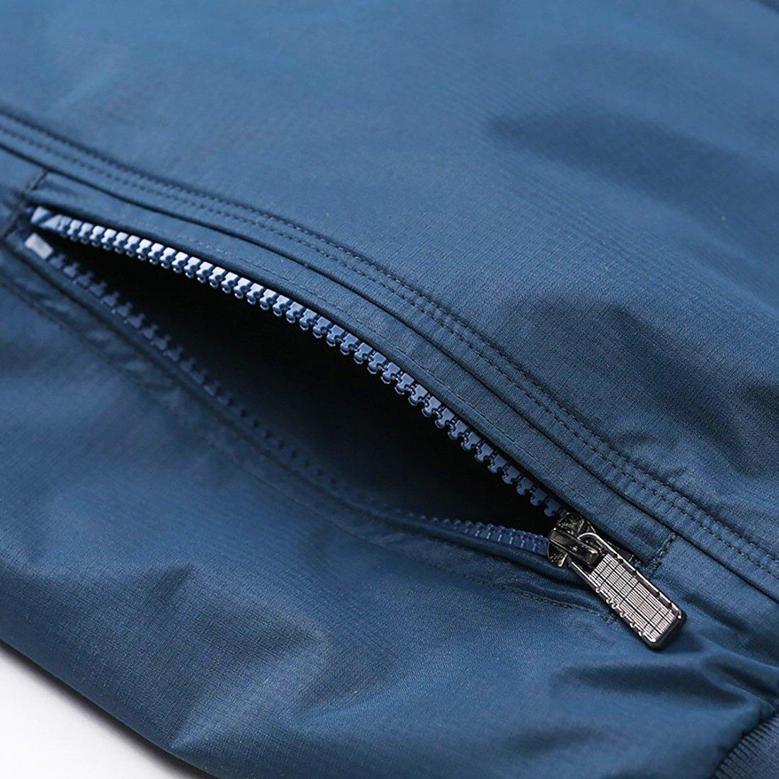 Nantersan Mens Casual Jacket Outdoor Sportswear Windbreaker Lightweight Bomber Jackets and Coats