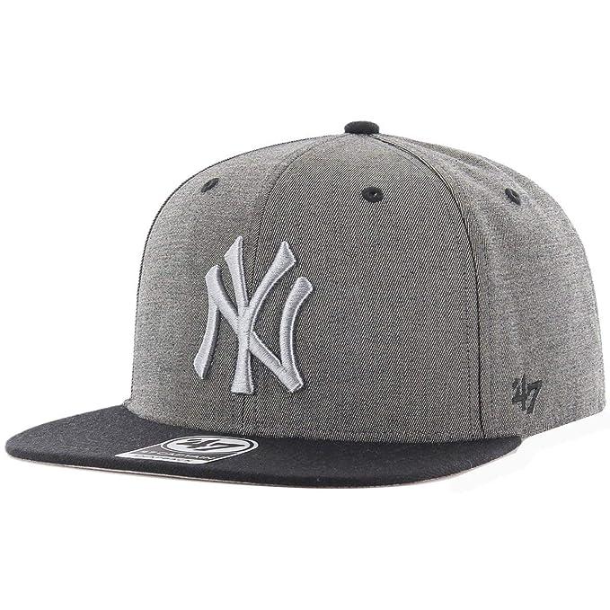 Gorra 47 Brand - Mlb New York Yankees Captain Snapback gris/negro talla: OSFA (Talla única para todos sexos): Amazon.es: Ropa y accesorios