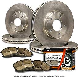 Fits: X3 High-End 2 Brake Rotors 4 Semi-Met Front Kit Pads 5lug