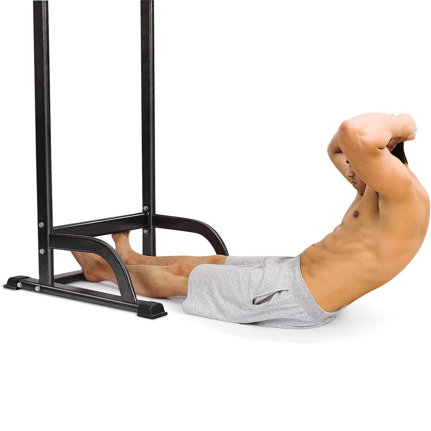 Adjustable Pull Up Chin Up Bar,Pull Up Stand Power Tower Strength Power Tower Fitness Workout Station by Rapesee (Image #5)