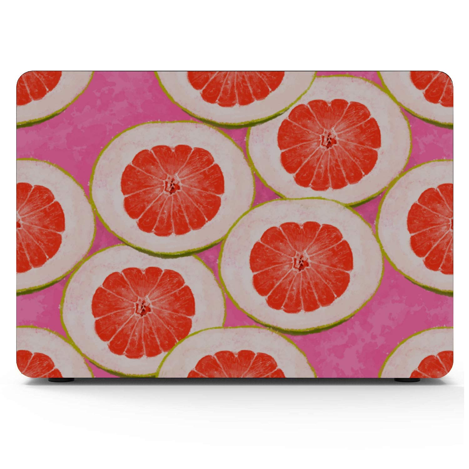 A1466 MacBook Air Case Round Summer Painting Fruit Red Pomelo Plastic Hard Shell Compatible Mac Air 11 Pro 13 15 MacBook Pro Laptop Cover Protection for MacBook 2016-2019 Version