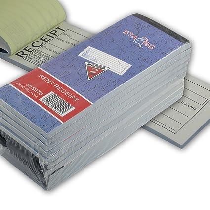 amazon com sta pro 10 pack rent receipt book carbonless copy