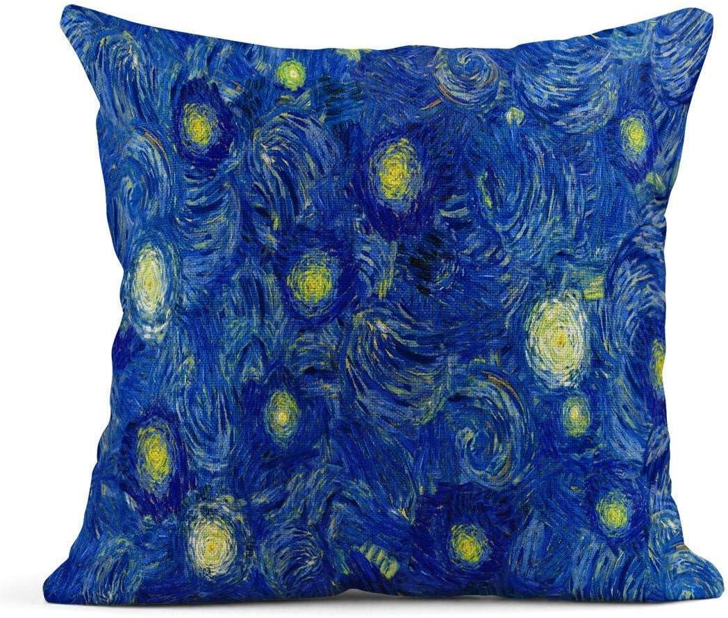 Cojín Blue Sky Wide Abstract en Van Gogh Patrón de Pintura de ...