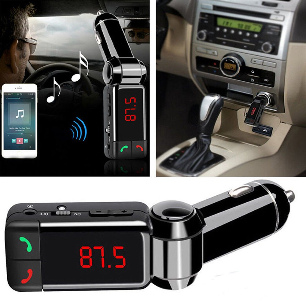 EINCAR Kit de transmisor FM inal/ámbrico para Coche Bluetooth Manos Libres Bluetooth MP3 Auto Kit Reproductor MP3 con modulador de FM Lector USB
