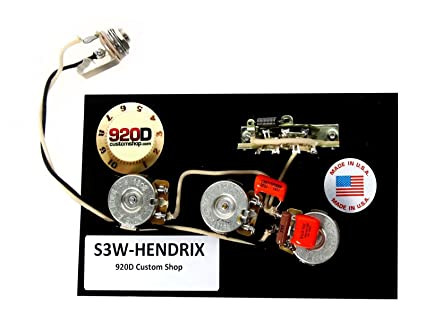 amazon com: 920d fender strat wiring harness hendrix 60's 3 way w/blender  treble bleed: musical instruments