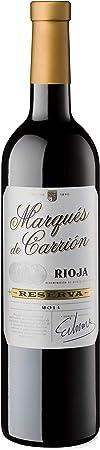 Marqués de Carrión Reserva Vino Tinto D.O Rioja, 36 Meses de Crianza, Volumen de Alcohol 14% - 3 Botellas x 75 cl - Total : 225 cl