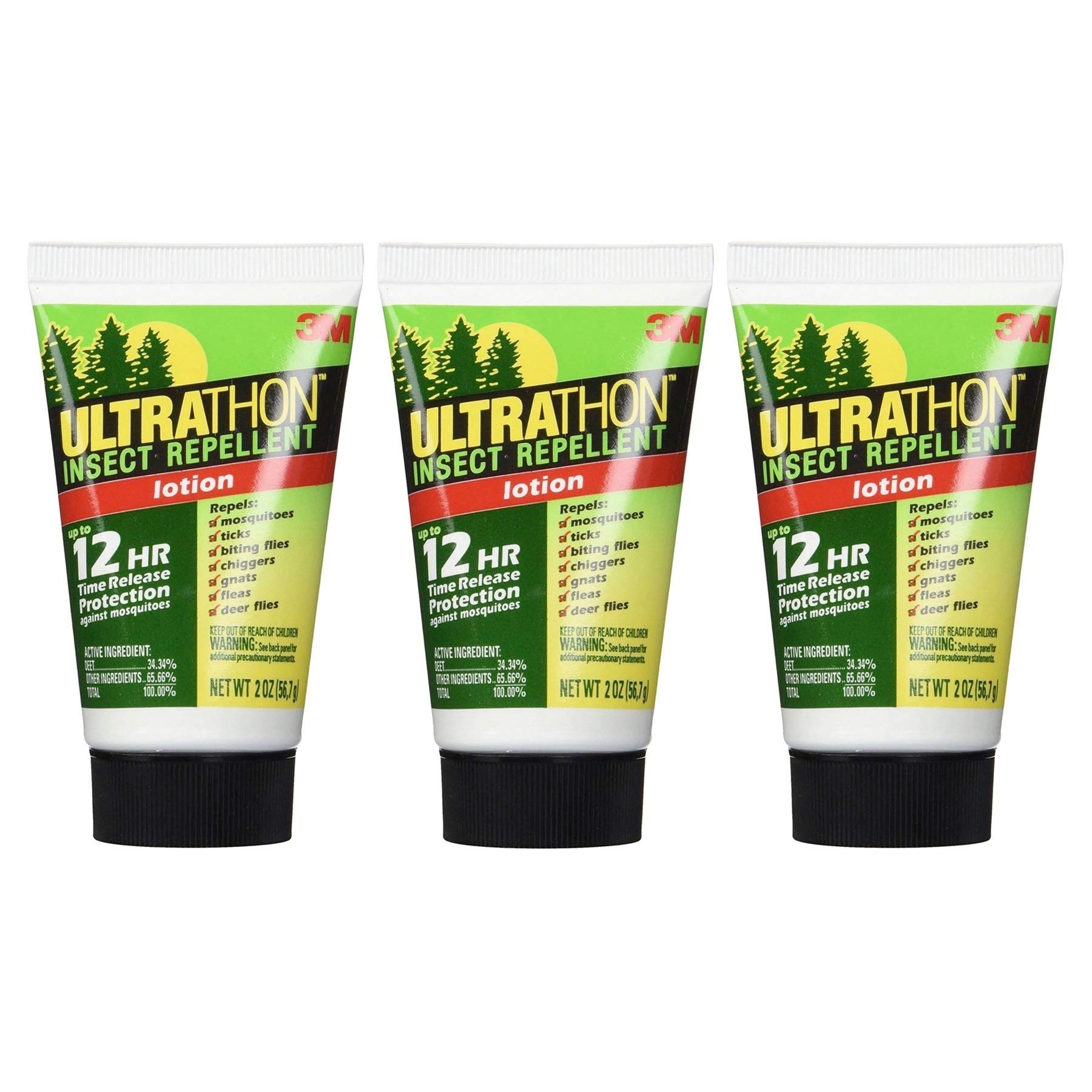 3M Ultrathon Insect Repellent Lotion, 2-Ounce (3-Tubes)