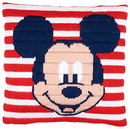 Vervaco - Cojín de Punto de Cruz Disney Mickey Mouse, Stick ...