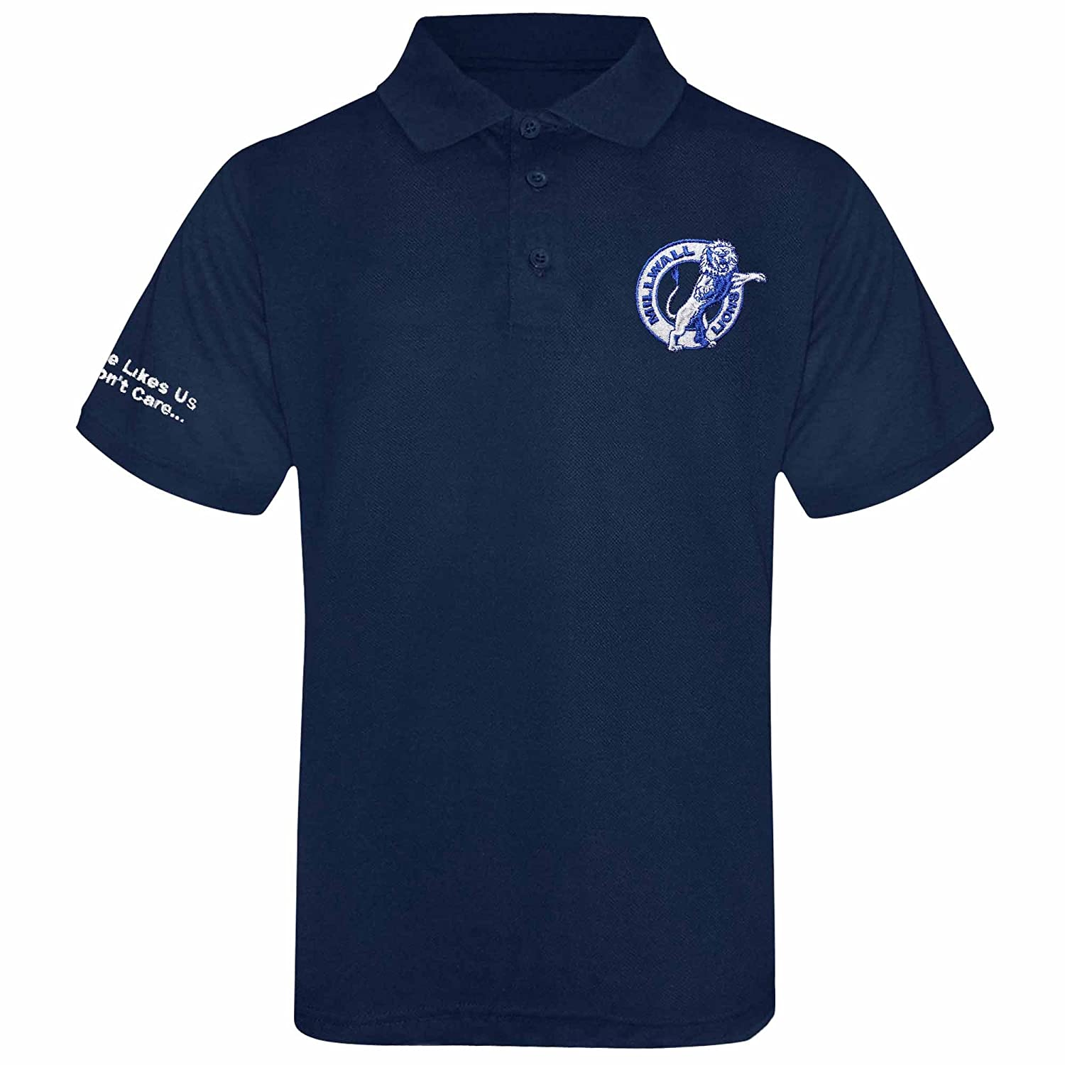 Millwall Lions Embroidered Crest Polo Shirt (Adult Sizes S to 4XL)