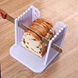 Vangoddy Detachable Compact Storage DIY Home Baking Bread Toast Cutter Slicer (White)