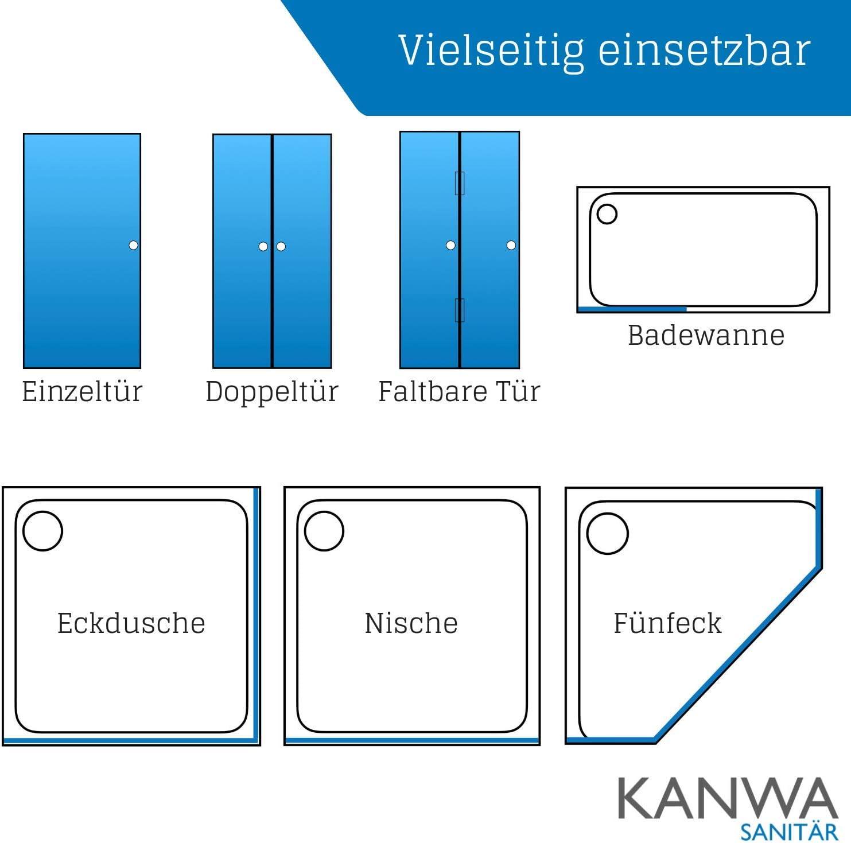 kanwa Joint de douche pour la Cabine de douche au sol comme Joint 1/m