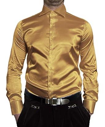 wholesale dealer 422e1 4be6e Pierre Martin Designer Herren Glanz Hemd Slim Fit tailliert ...