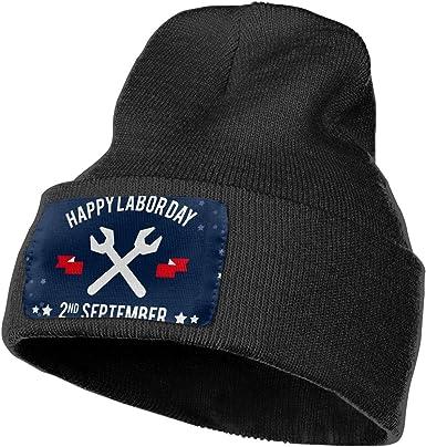 Labor Day American Flag Skull Cap Men /& Women Knitting Hats Stretchy /& Soft Beanie