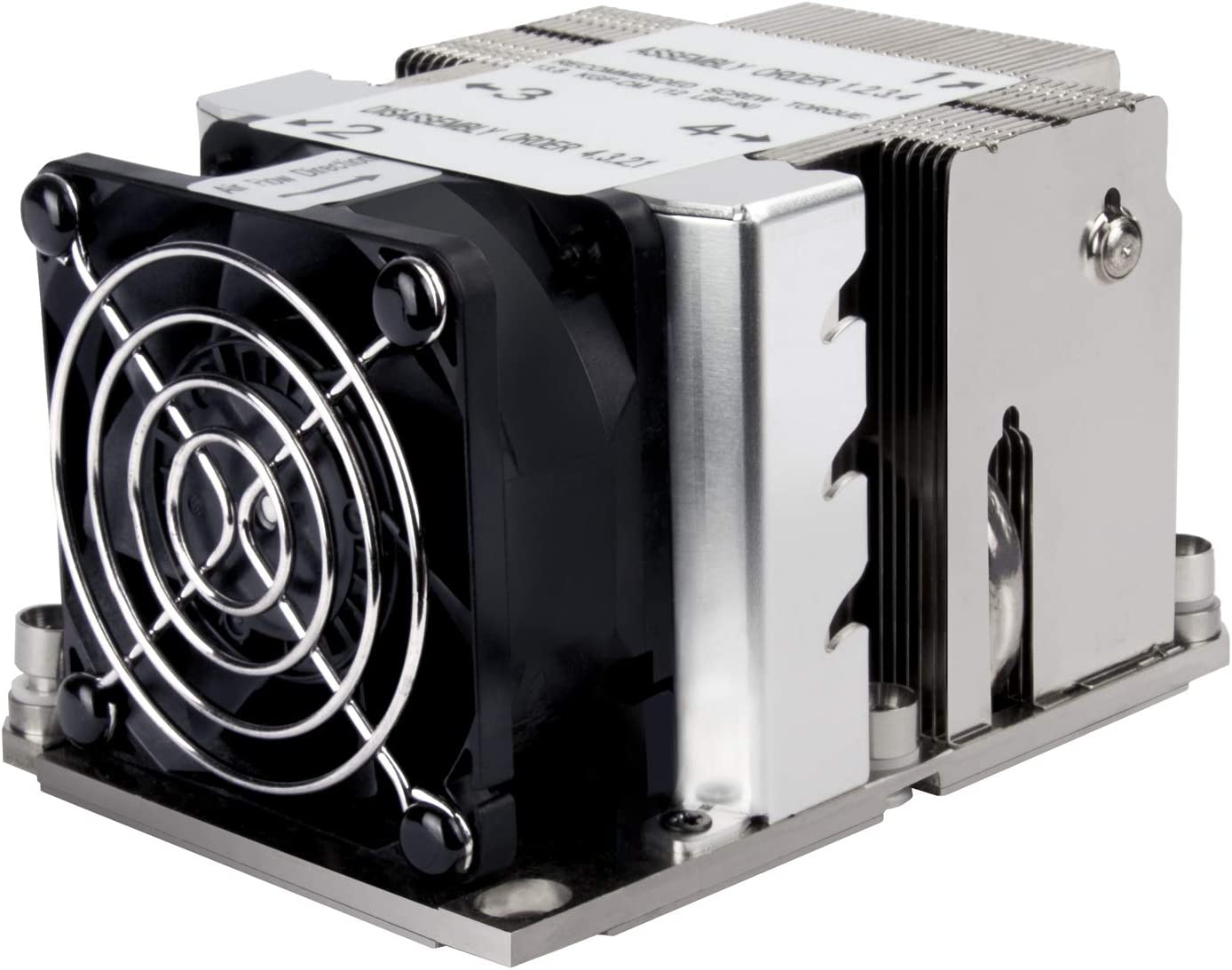 XE02-3647N SilverStone Technology - 2U Small Form Factor Server/Workstation CPU Cooler for Intel LGA 3647 Narrow sockets