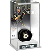 $89 » Ryan Reaves Vegas Golden Knights Autographed Hockey Puck with Deluxe Tall Hockey Puck Case…