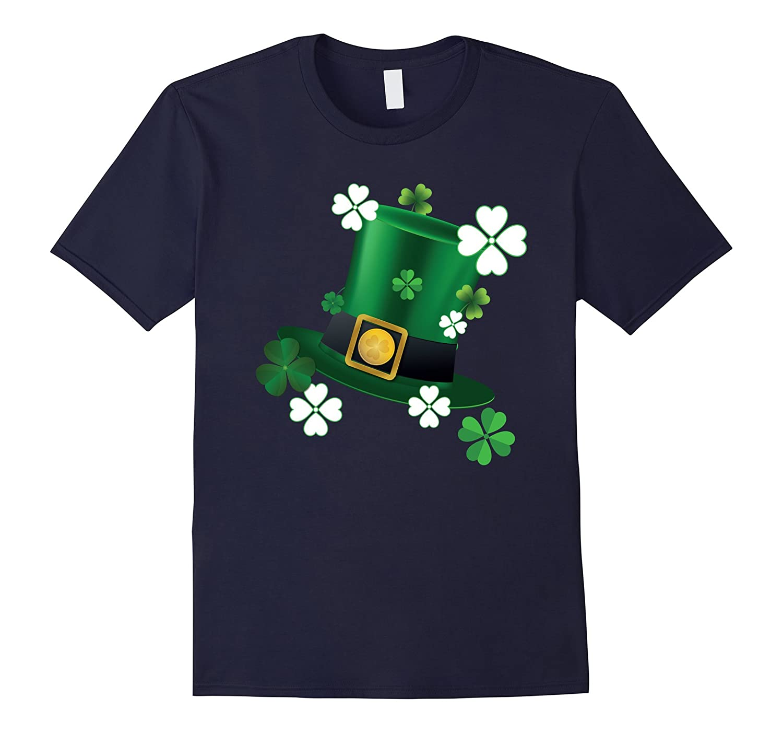Lucky Irish Leprechaun Shamrocks Hat St Patricks Day T-Shirt-TD