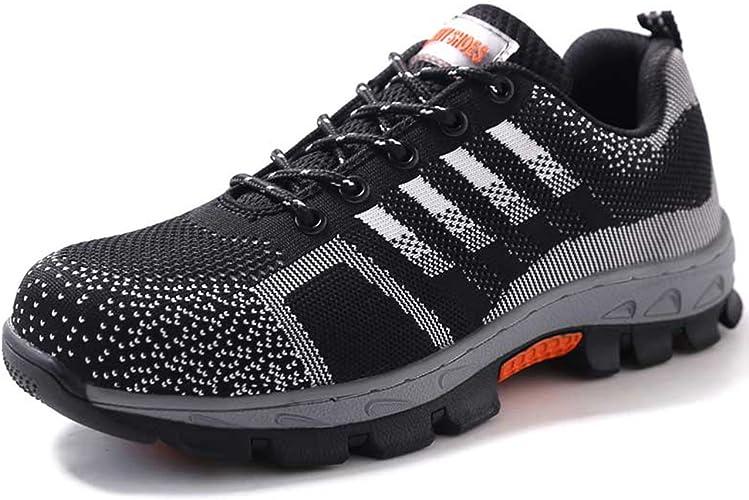 Ulogu Arbeitsschuhe Herren Damen Sportlich Sicherheitsschuhe S3 Leicht Atmungsaktiv Schuhe mit Stahlkappe Arbeitsschutzschuhe