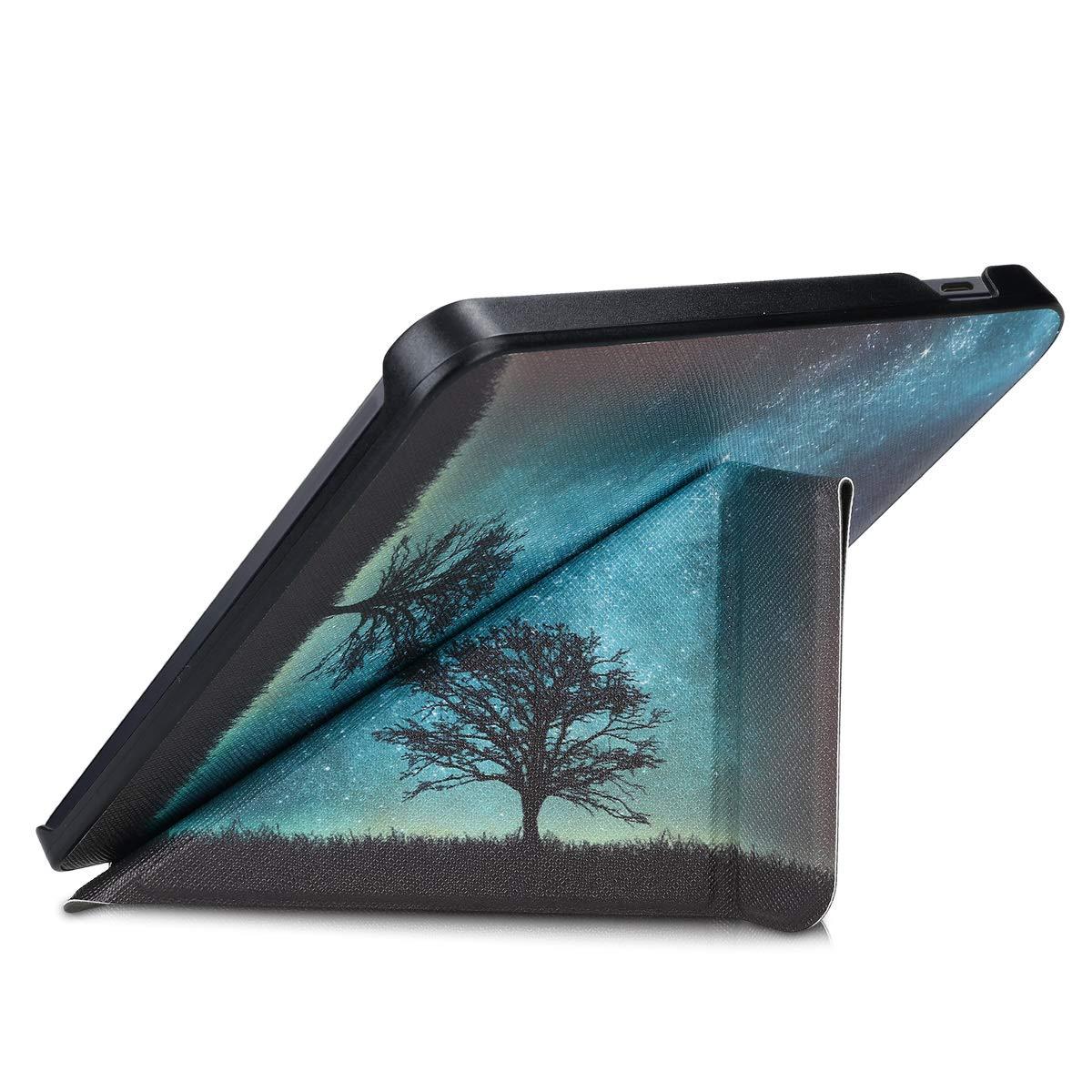 /Étui de Protection Noir-Multicolore Coque Rabat liseuse en Simili Cuir kwmobile Coque pour liseuse /électronique Kobo Libra H2O