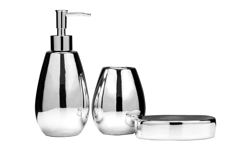 Premier Housewares Magpie Bathroom Set - Set of 3, Gold: Amazon.co ...
