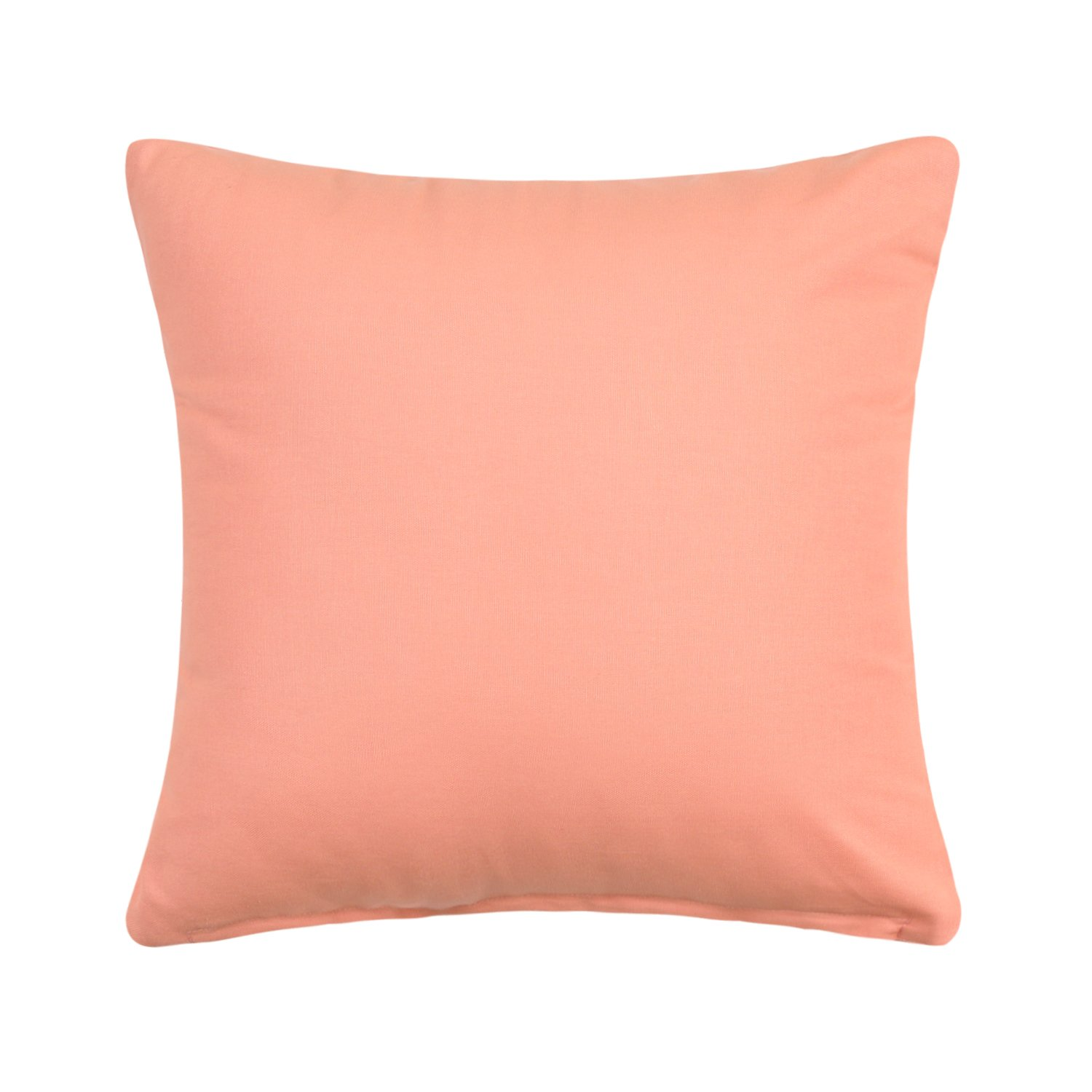 "20"" X 20"" Solid Apricot / Pale Peach Accent Throw Pillow Cover"