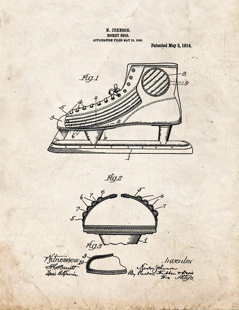 a90cccdec6577 Hockey Shoe Patent Print Old Look (5