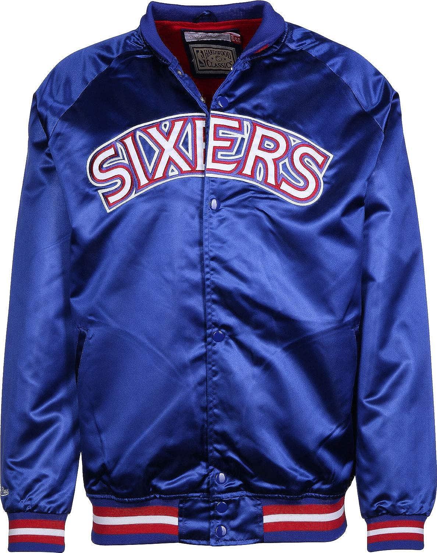 Mitchell & Ness NBA Satin Philadelphia 76ers Chaqueta ...