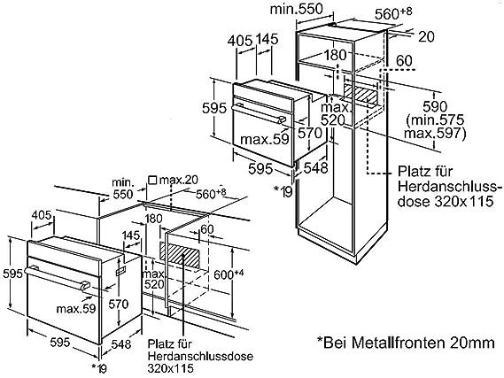 Bosch hbd31cr50 Juego del Horno hba33b250 + vitrocerámica ...