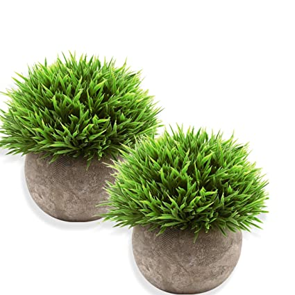 Amazon Com Meix Fake Plant For Bathroom Home Decor Small