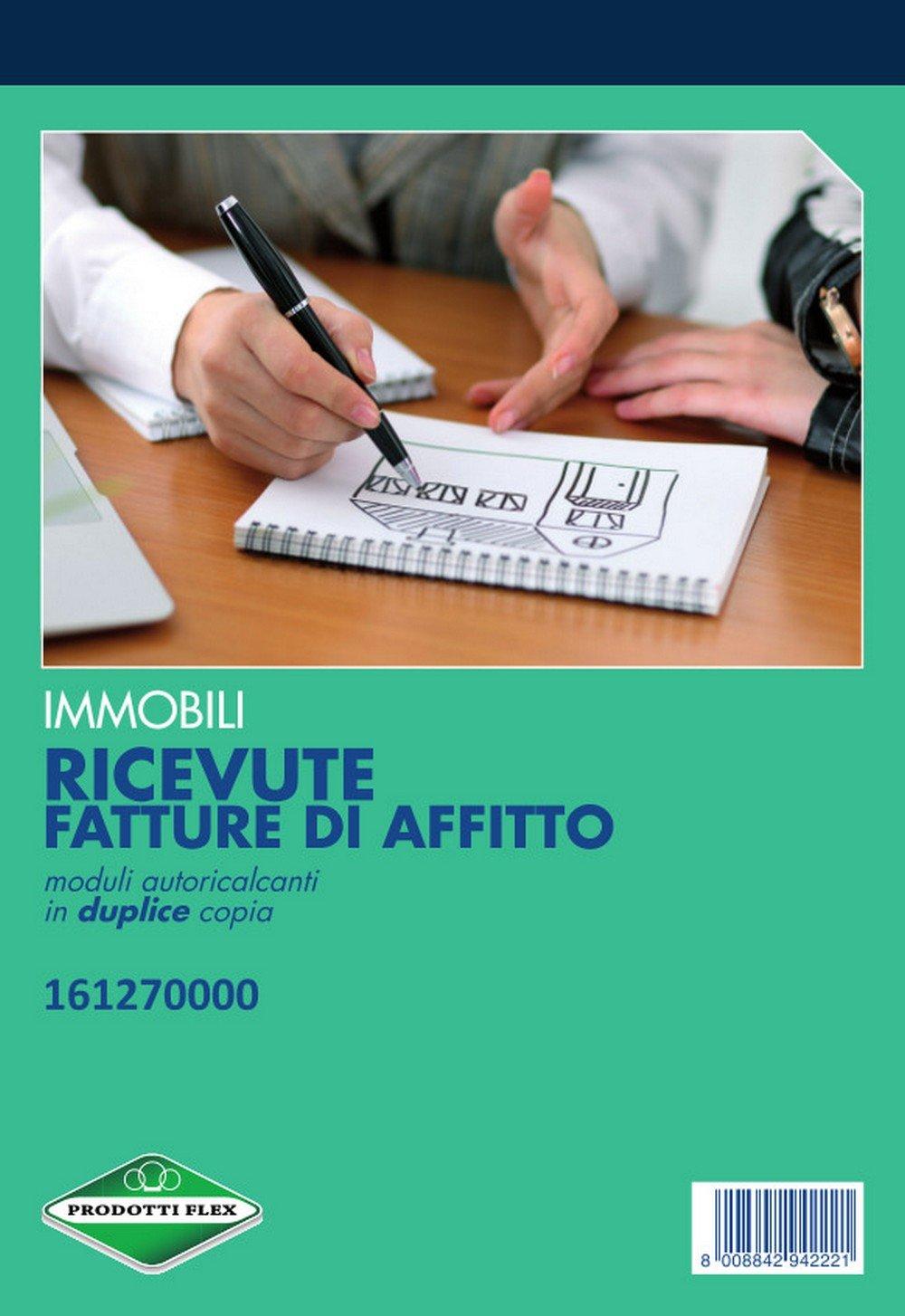FLEX 16127000 BLOCCO RICEVUTA AFFITTO 23X15 2C conf. da 5 pz.