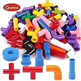 onshine plstico juguetes creativos y educativos bloques de construccin con piezas de montar tubos ladrillos