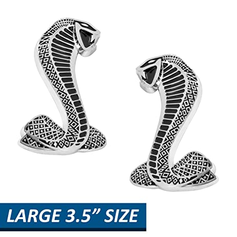 Amazon Ford Mustang 35 Tall Cobra Fender Emblems Larger