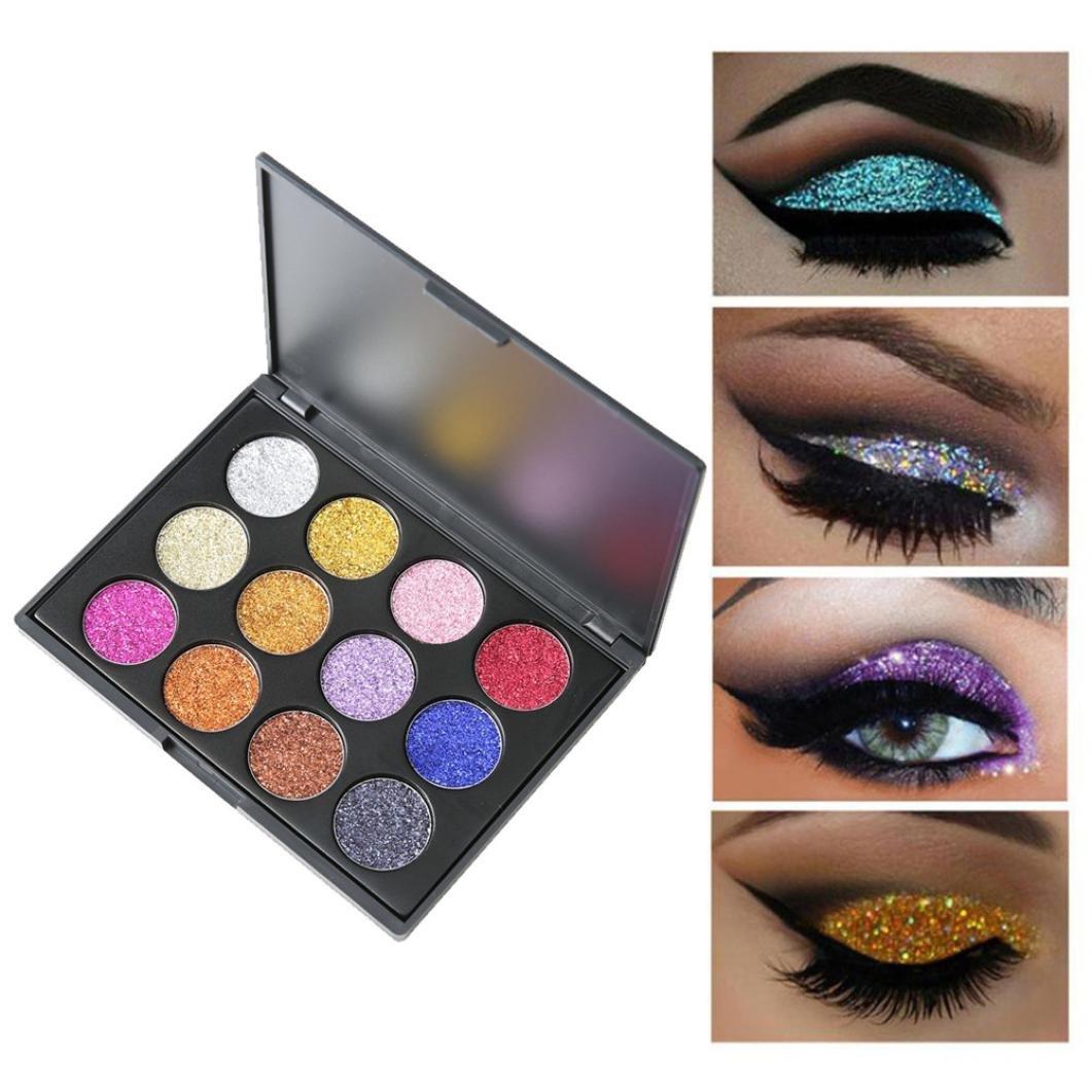 12 Colors Shimmer Glitter Eye Shadow Powder Palette Matte Eyeshadow Cosmetic Makeup for Women Girls Parties