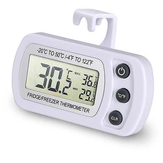 EUGO Impermeable Digital Termómetro para frigoríficos Refrigerador ...