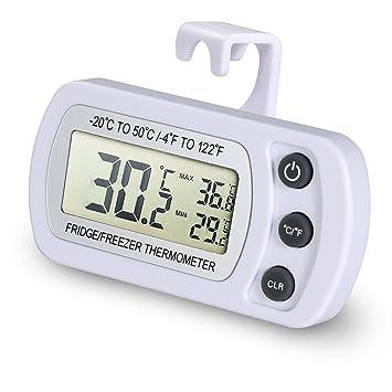 EUGO Impermeable Digital Termómetro para frigoríficos Refrigerador,Digital Nevera Refrigerador Congelador