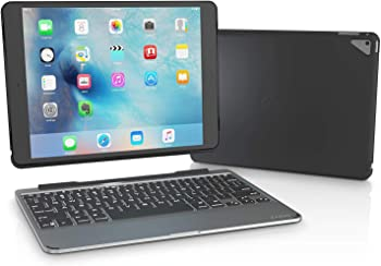 ZAGG Slim Book Ultrathin Case, Hinged with Detachable Bluetooth Keyboard