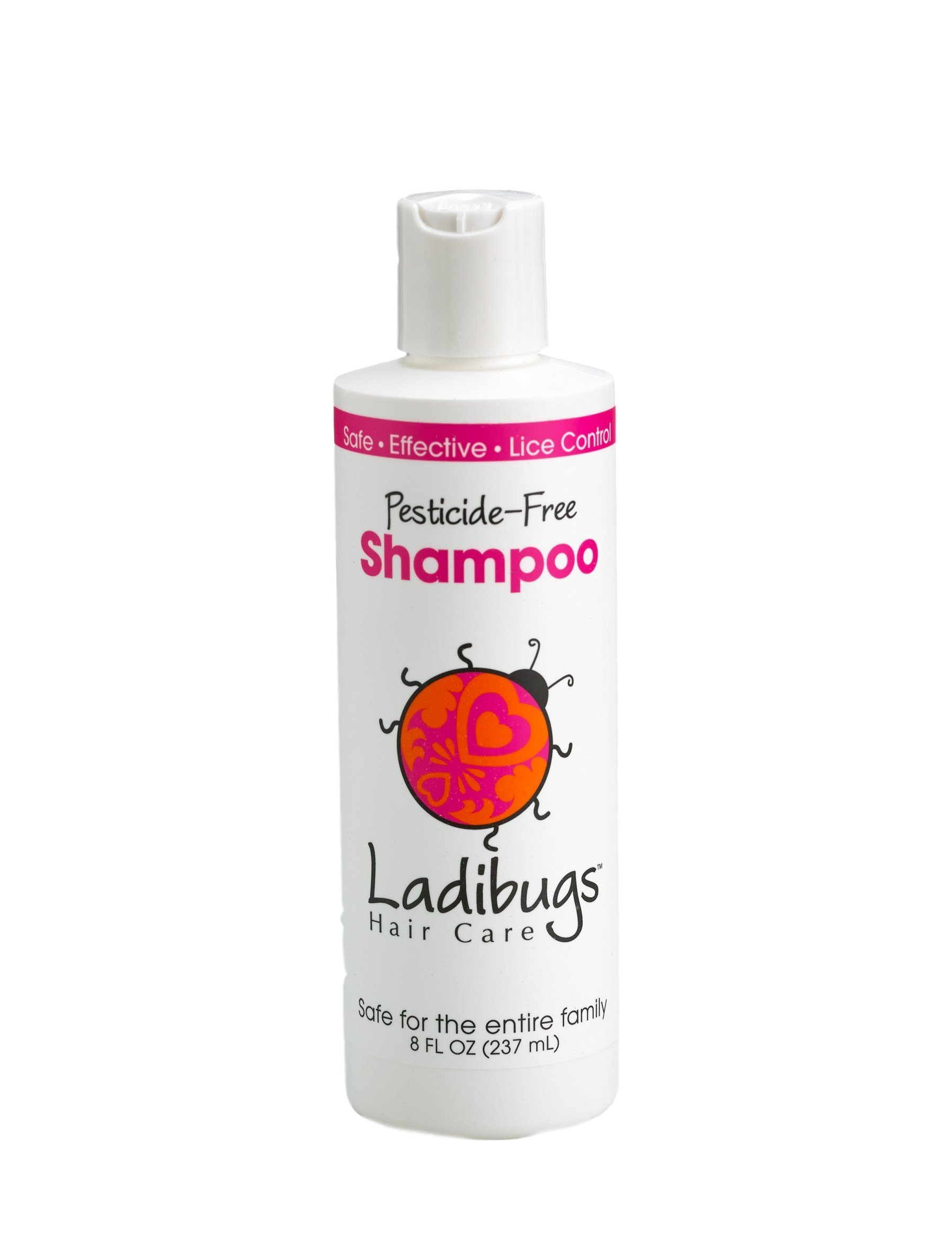 Ladibugs Lice Prevent Shampoo 8oz | Natural, Essential Oils, Sulfate-free | Non-toxic, Pesticide-free | Keep Lice Away!