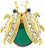 Broche A2357 - Femme - Métal  - Cristal  - Perle de synthèse