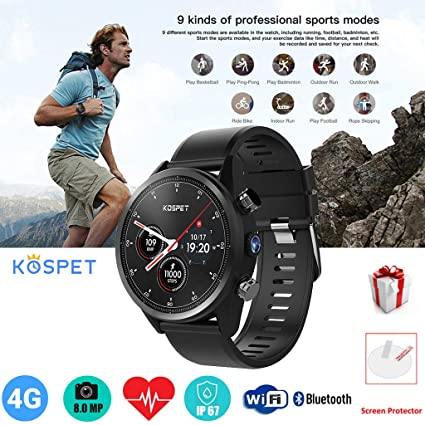 Amazon.com: Pstars Kospet Hope Lite 4G Smartwatch Phone 1.39 ...