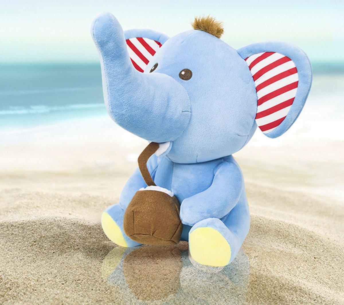 Amazon.com: Rainbow Fox Cute Cotton Hawaii Elephant Animal Stuffed Plush Toys (33cm x 30cm, Hawaii Elephant): Home & Kitchen